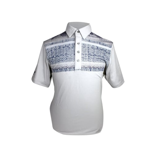 Ashworth Mens Patterned Block Print Polo