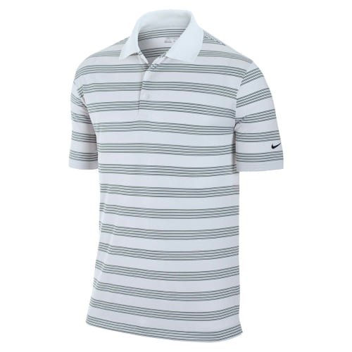 Nike Golf Tech Stripe Polo - White/Black
