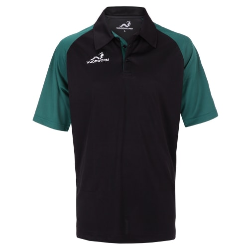 Woodworm Pro Cricket Short Sleeve Shirt Green