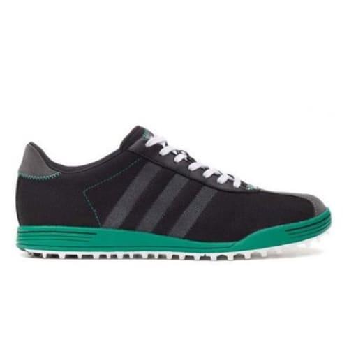 Adidas Adicross II WD Golf Shoes - Black / Green - Wide Fit