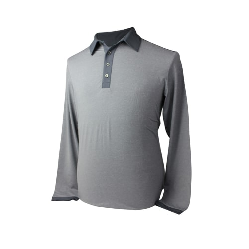 Adidas Mens AdiPure Heather Long Sleeve Polo