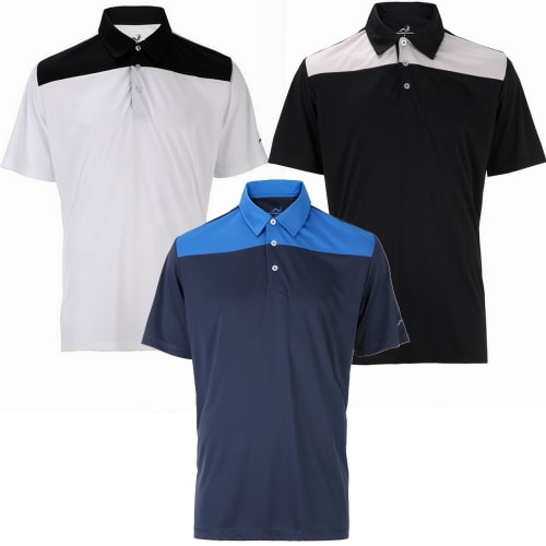 Woodworm Panel Golf Polo Shirts - 3 Pack