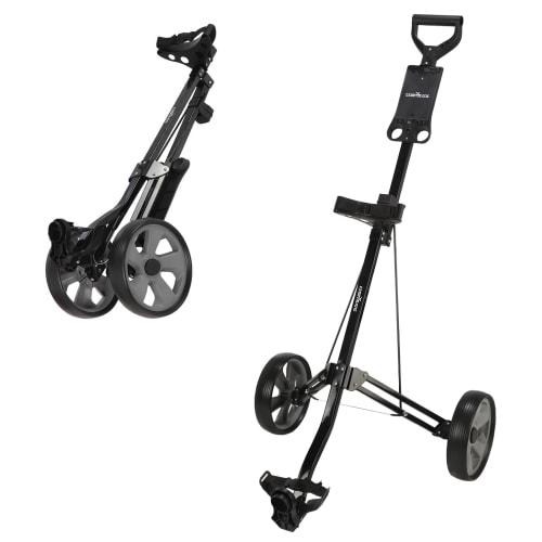 Caddymatic Golf Lite Trac 2 Wheel Folding Golf Trolley Black