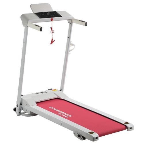 Confidence Fitness Ultra 200 Treadmill Electric Motorised Running Machine White/Pink