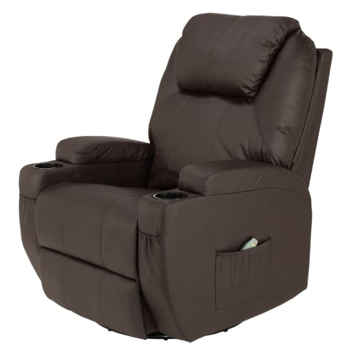 Homegear Recliner Chair with 8 Point Electric Massage and Heat - Brown