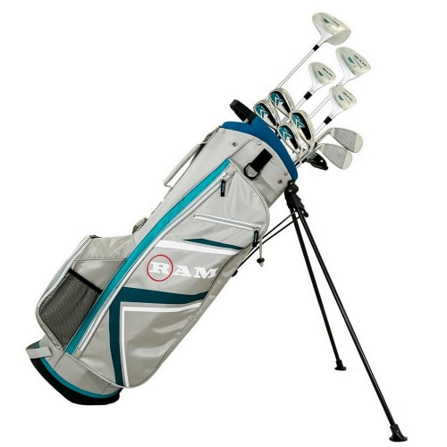 Ram Golf Accubar Plus Golf Clubs Set - Graphite Shafted Woods and Irons - Ladies Right Hand