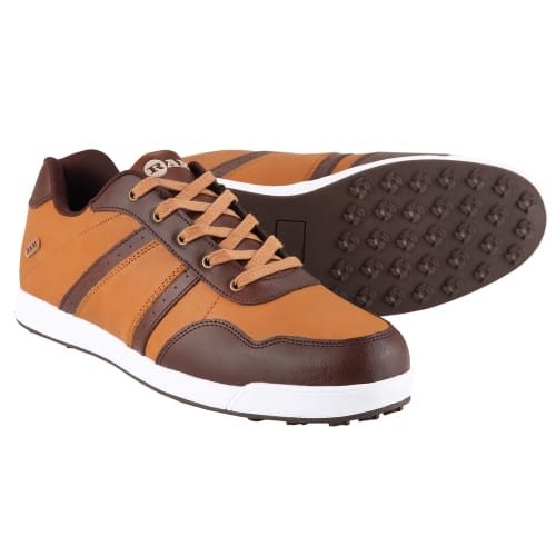 Ram Golf FX Comfort Mens Waterproof Golf Shoes - Brown