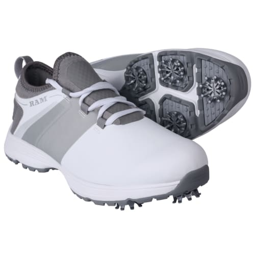 Ram Golf XT1 Mens Golf Shoes, Spiked, White