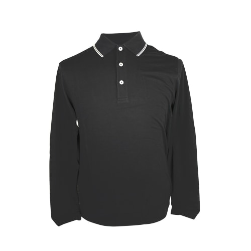 Ashworth Mens Long Sleeve Merino Polo Shirt