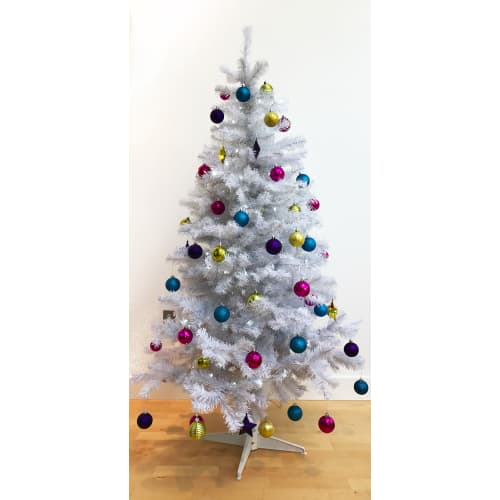 Homegear 6FT Artificial White Christmas Tree