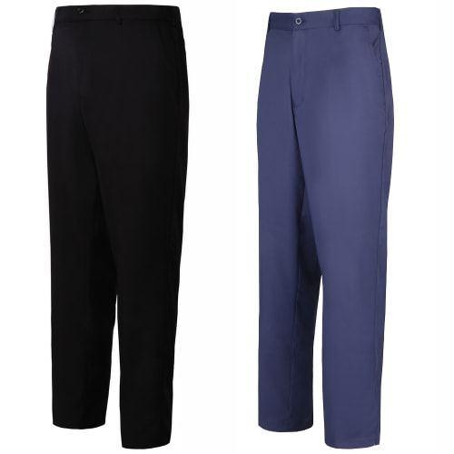 Woodworm Golf 2 Pack Mens Golf Trousers, 1 Black and 1 Blue