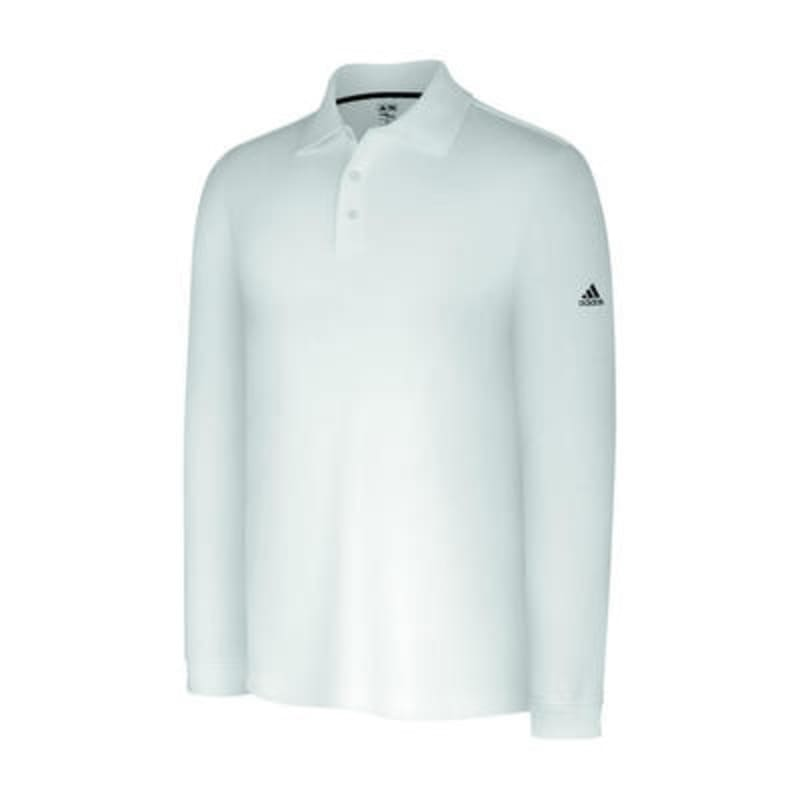 Adidas ClimaLite Long Sleeve Stretch Pique Polo