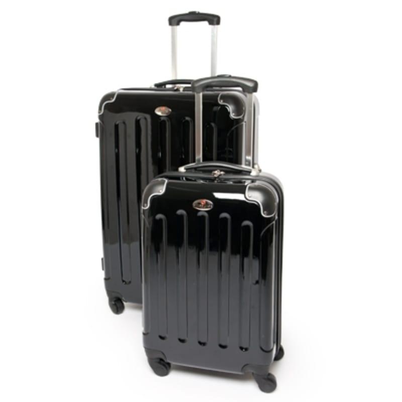 """OPEN BOX Swiss Case 28"""" Black 2 PC Suitcase Set"""