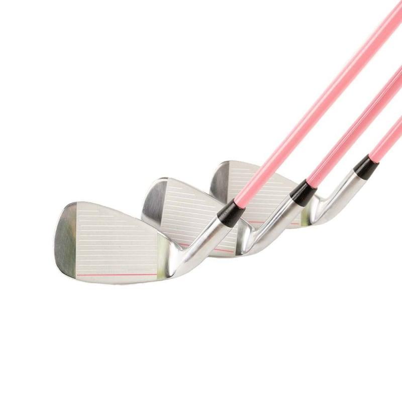 GolfGirl Pink Girls Junior Set inc Bag - Irons