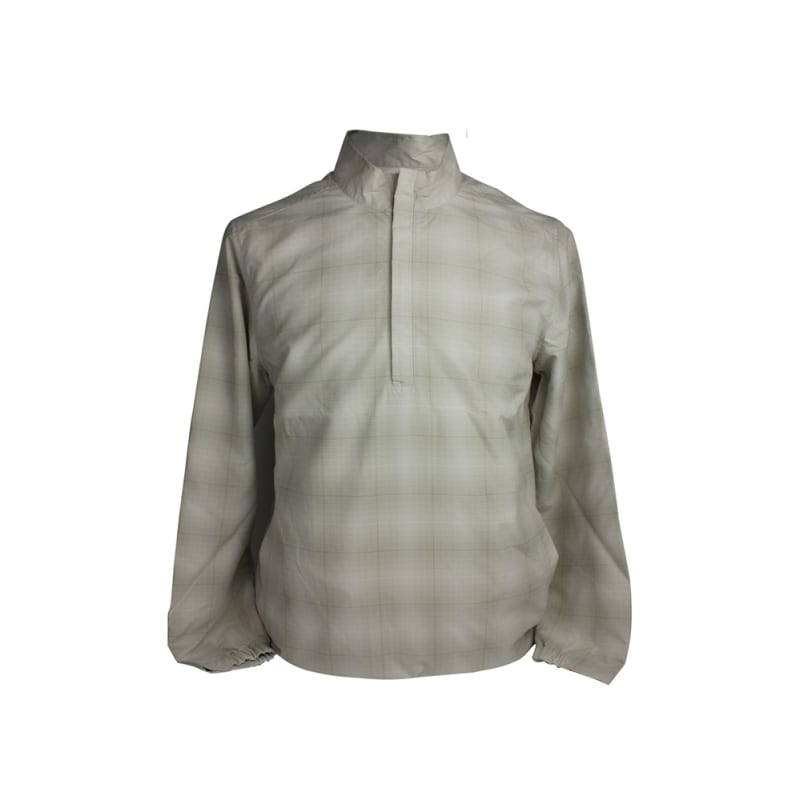 Ashworth Golf Mens LS Checkered Half Zip Windshirt