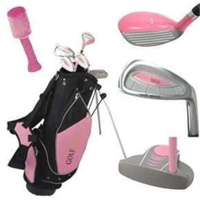 OPEN BOX Golf Girl Pink Junior Set inc Bag - Left Hand