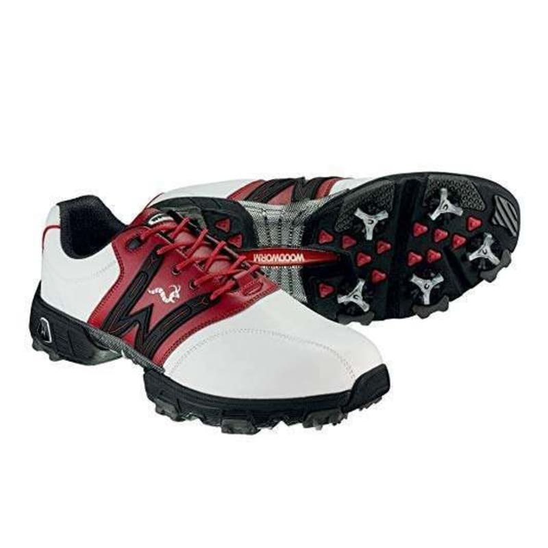 Woodworm Golf Tour Golf Shoes White / Red