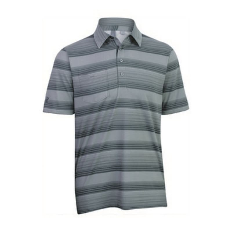 Ashworth Mens Printed Stripe Polo