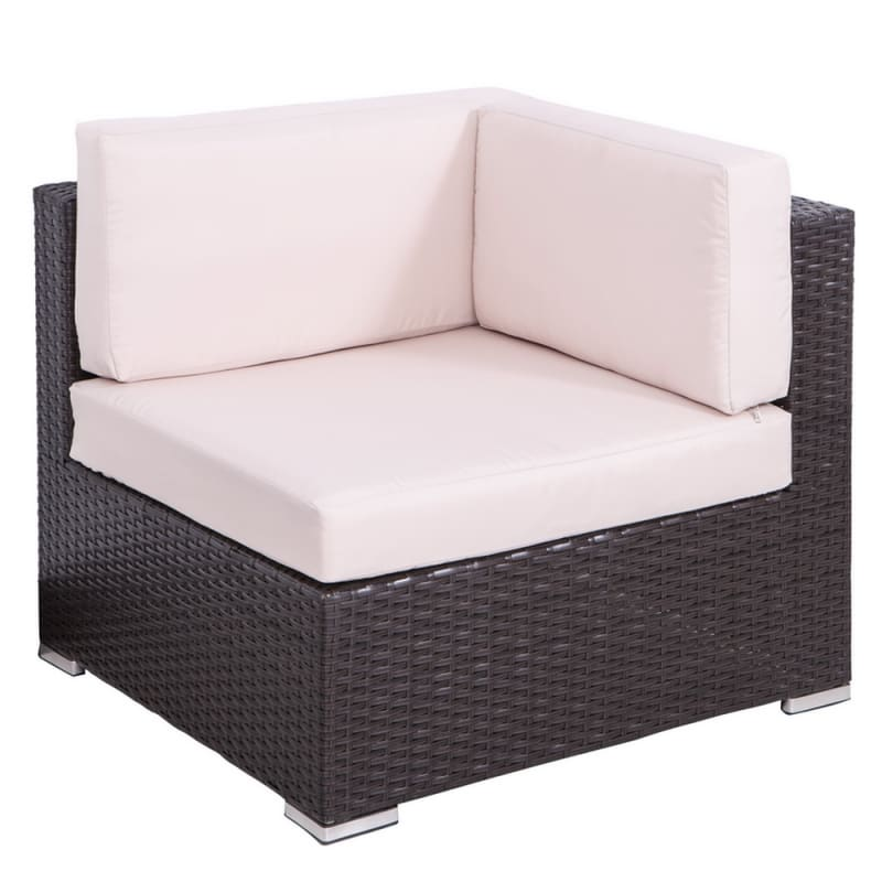 Palm Springs 7 Piece Rattan Sectional Sofa Set with Table and Cushions #2