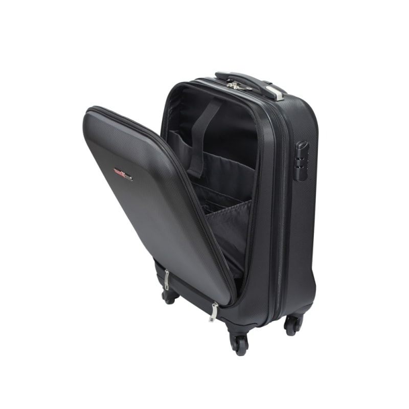 "Swiss Case 20"" ABS 4 Wheel Suitcase W/ Zip Pocket #4"