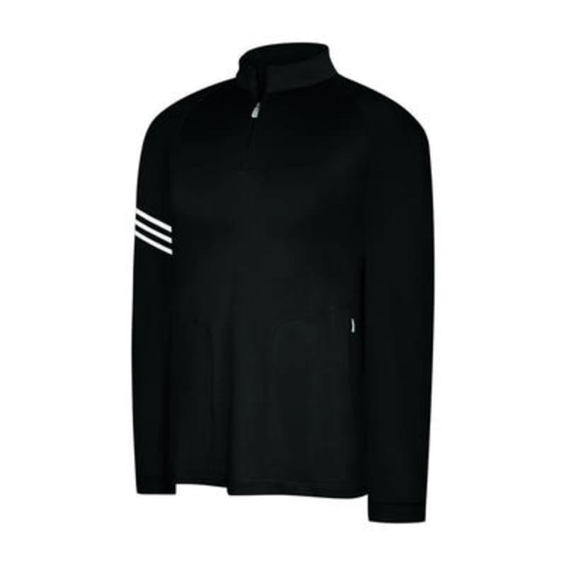 Adidas ClimaLite 3 Stripes Half Zip Mock Pullover