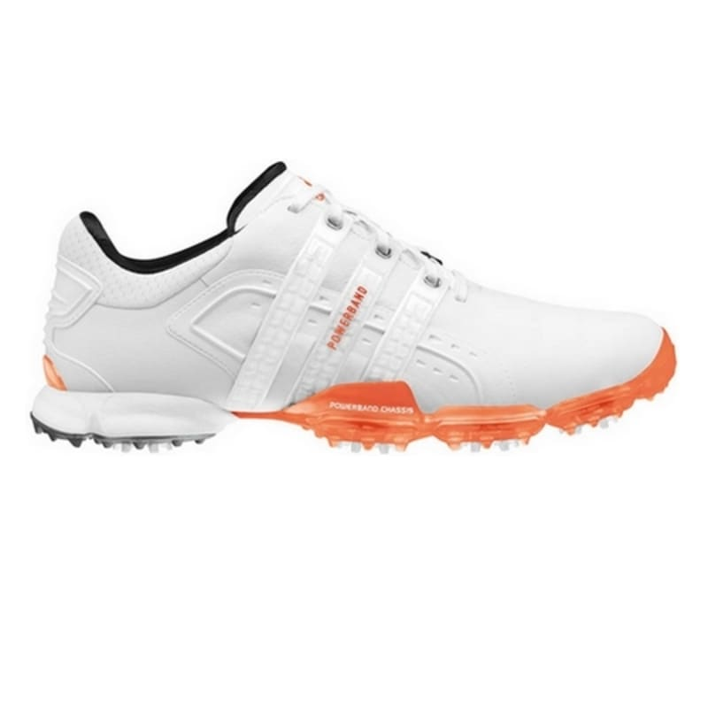Adidas Powerband 4.0 Golf Shoes - White / Orange 7