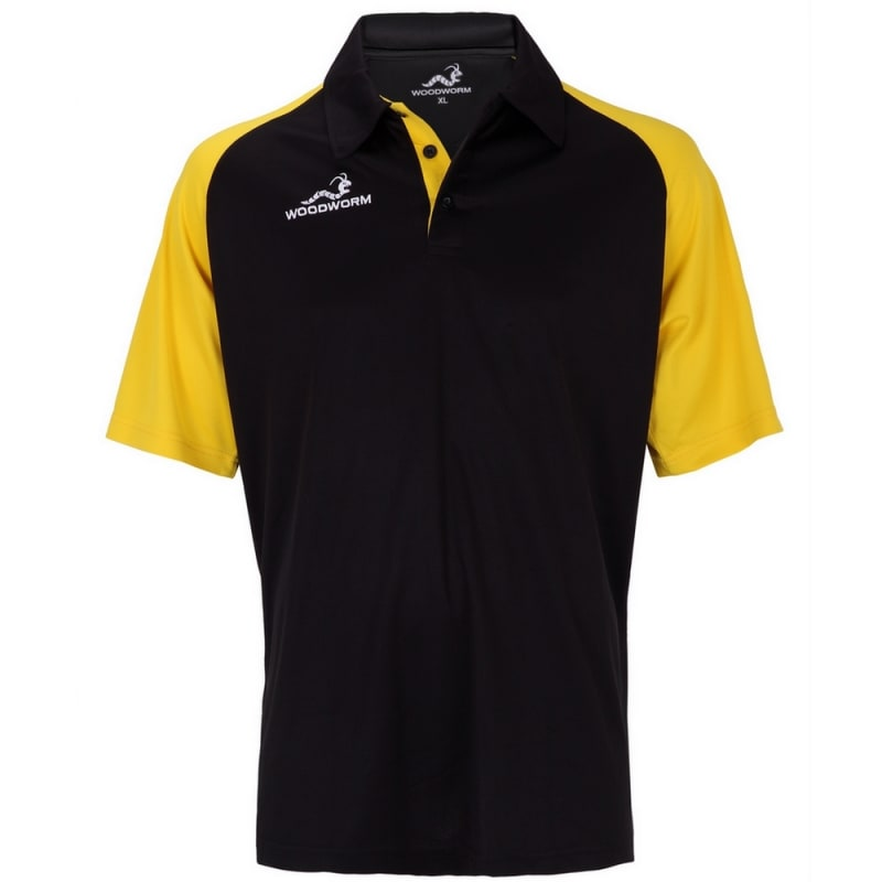 Woodworm Pro Cricket Short Sleeve Shirt Gold
