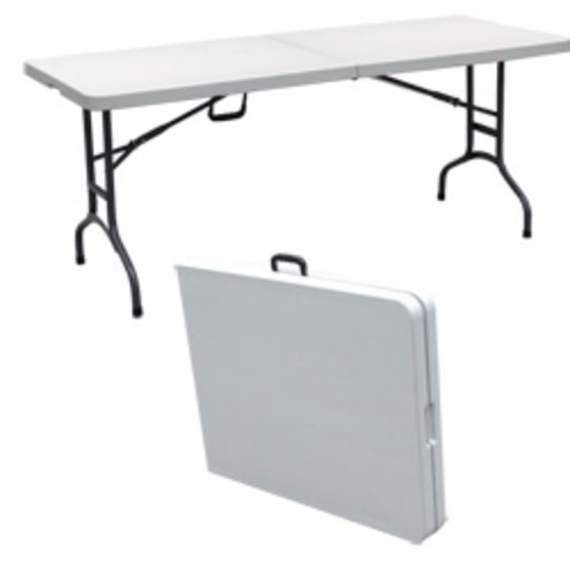 Enjoyable Palm Springs Folding Portable 6 Ft Party Table Download Free Architecture Designs Lukepmadebymaigaardcom