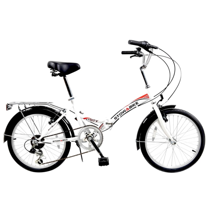 Ex-Demo Stowabike Folding City V2 Compact Bike Red / White