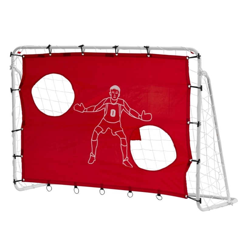 EX-DEMO Woodworm 6' x4' Metal Football Goal Posts w/ Target Mesh