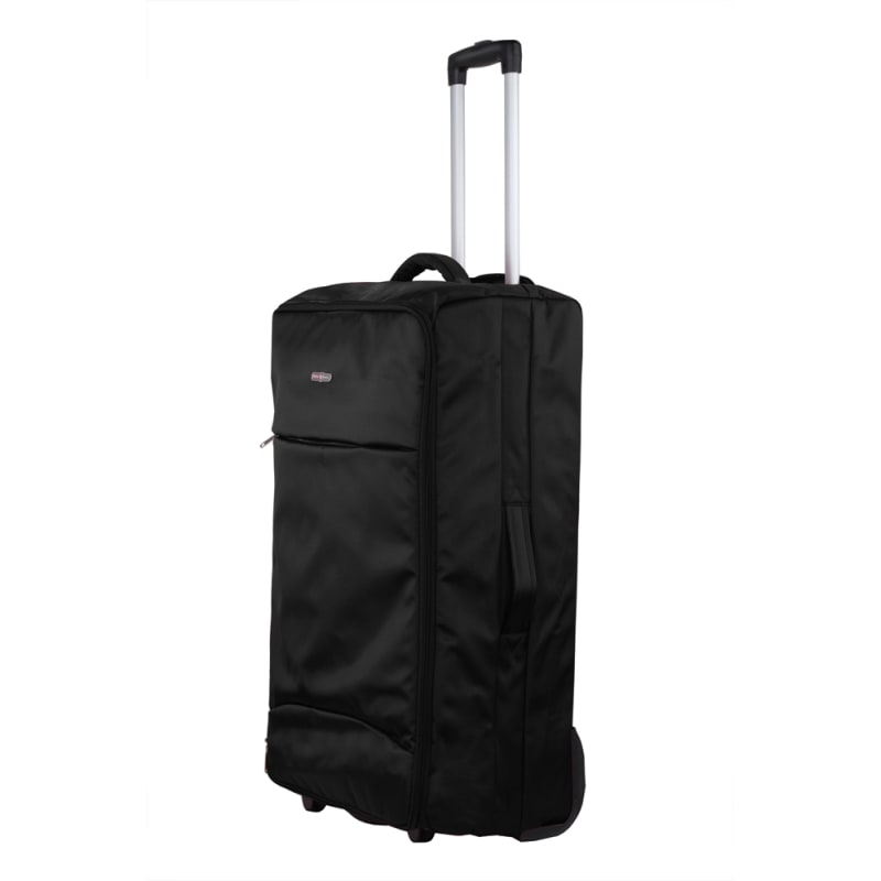 "Swiss Case 28"" Lightweight Folding Suitcase Black"