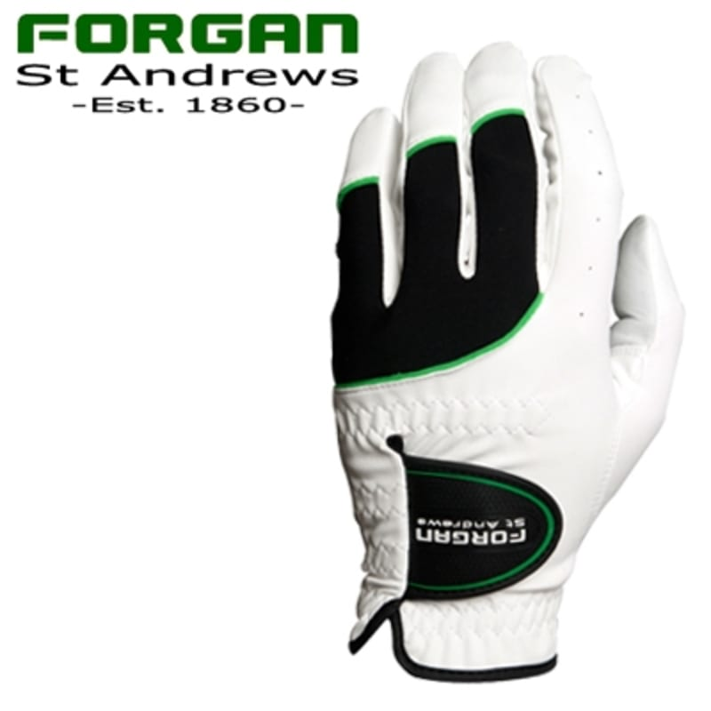 2 Forgan of St Andrews MENS AW Left Hand Golf Gloves WHITE