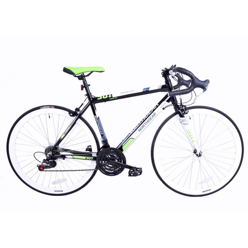 North Gear 901 Road Bike with Shimano Components Black / Green