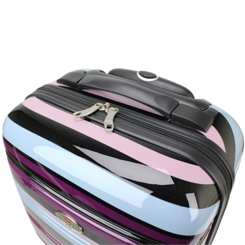 OPEN BOX Swiss Case 4W 2pc Suitcase Set Colorful #2