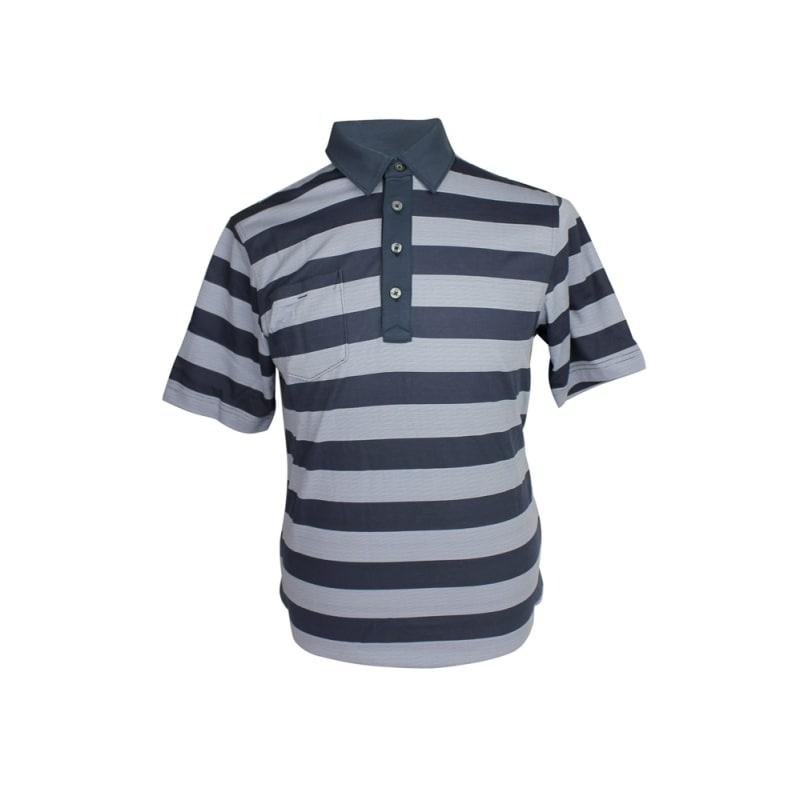 Ashworth Mens Striped Pocket Polo