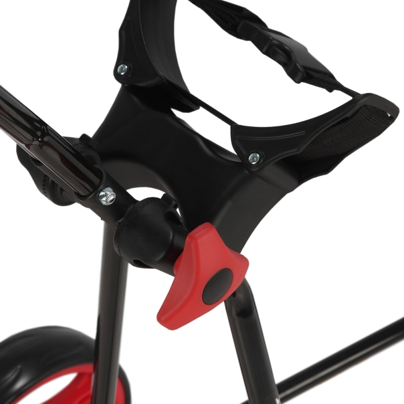 OPEN BOX Caddymatic Golf Continental 3 Wheel Folding Golf Push/Pull Cart Black/Red #2
