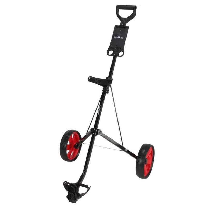 OPEN BOX Caddymatic Golf i-Trac 2 Wheel Folding Golf Cart Black/Red #1