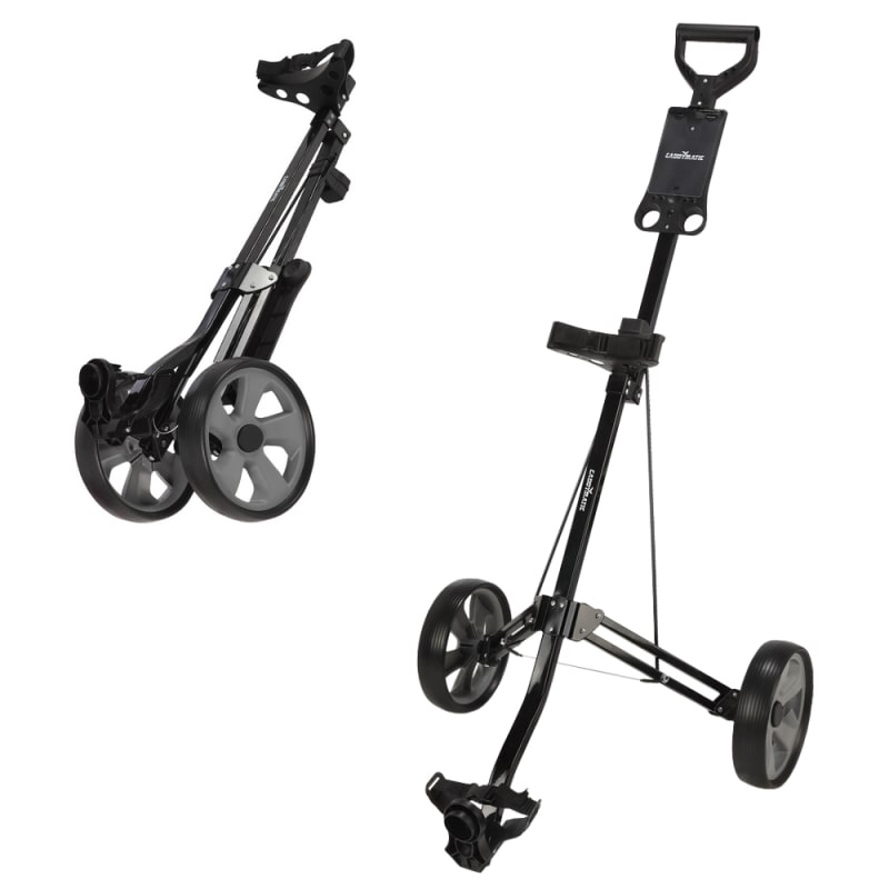 Caddymatic Golf Lite Trac 2 Wheel Folding Golf Trolley Black