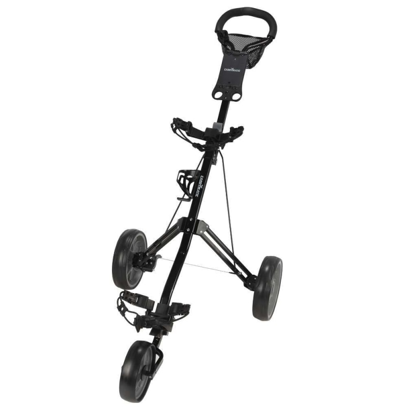 OPEN BOX Caddymatic Golf Pro Lite 3 Wheel Golf Cart Black/Grey #