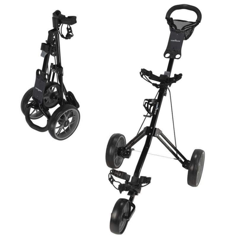 OPEN BOX Caddymatic Golf Pro Lite 3 Wheel Golf Cart Black/Grey