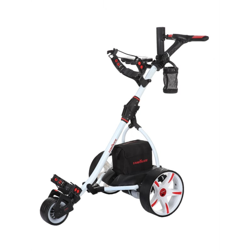 Caddymatic V1 Electric Golf Trolley -Wht + FreeBag