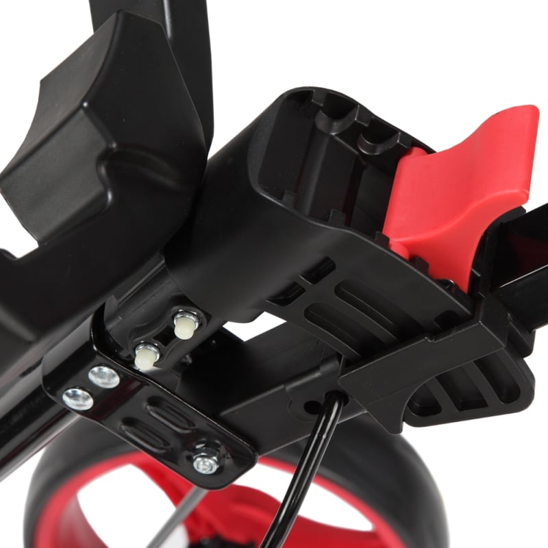 Caddymatic Golf X-TREME 3 Wheel Push/Pull Golf Cart with Seat Black/Red #3