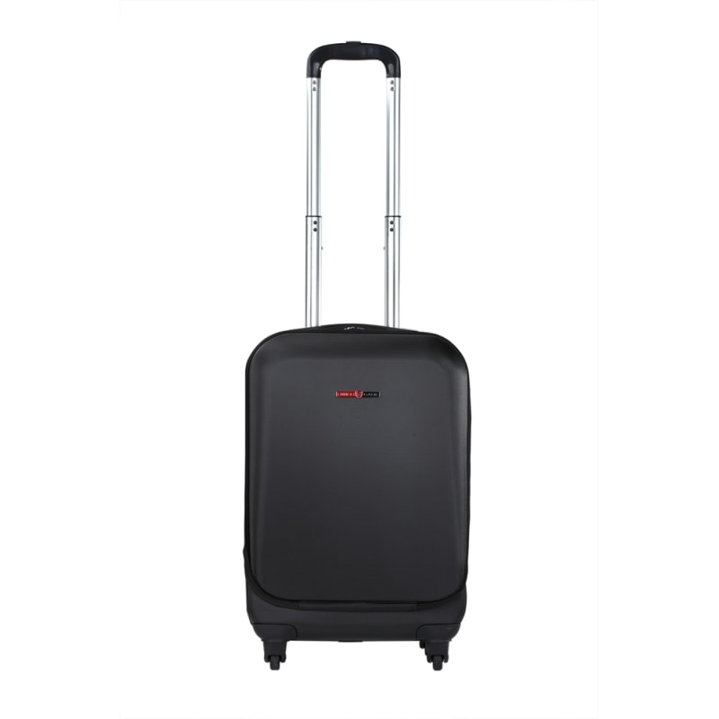 "Swiss Case 20"" ABS 4 Wheel Suitcase W/ Zip Pocket #1"