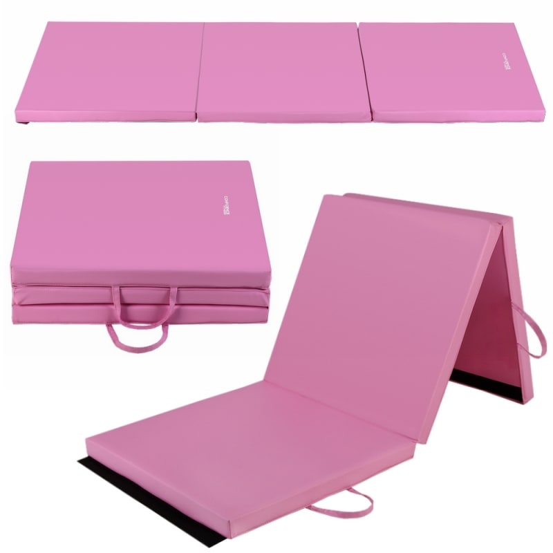 "Confidence 2'x6'x2"" Folding Gym Mat Pink"