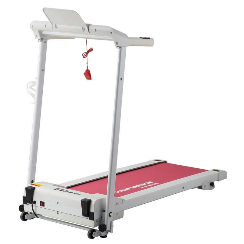 Confidence Fitness Ultra 200 Treadmill Electric Motorized Running Machine White/Pink #3