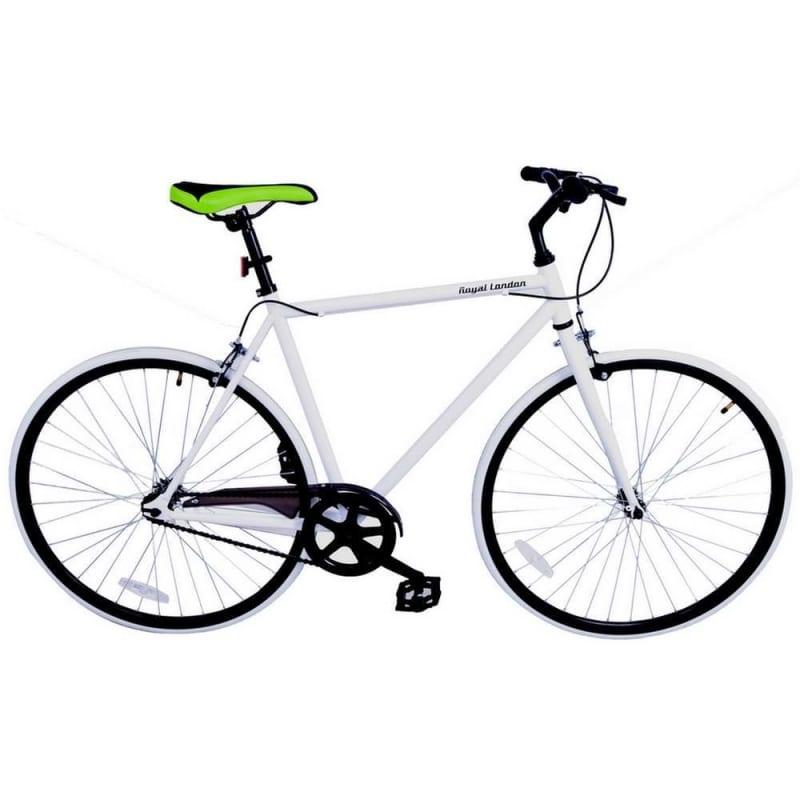 EX-DEMO Royal London Fixie Fixed Gear Single Speed Bike White / Black