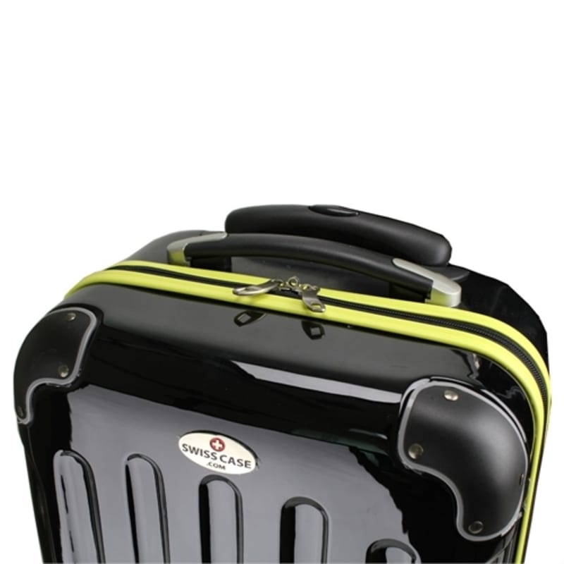 OPEN BOX Swiss Case 4W 2pc Suitcase Set Black / Yellow #5