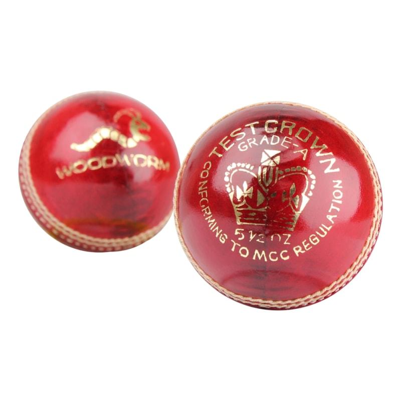 6 x Woodworm Test Crown 5 1/2oz Cricket Balls