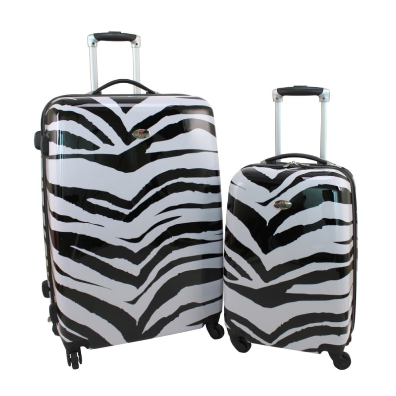 173282f3a OPEN BOX Swiss Case 4 W 2pc Suitcase Set Zebra - Golf Outlets of America -  Golf Outlets of America