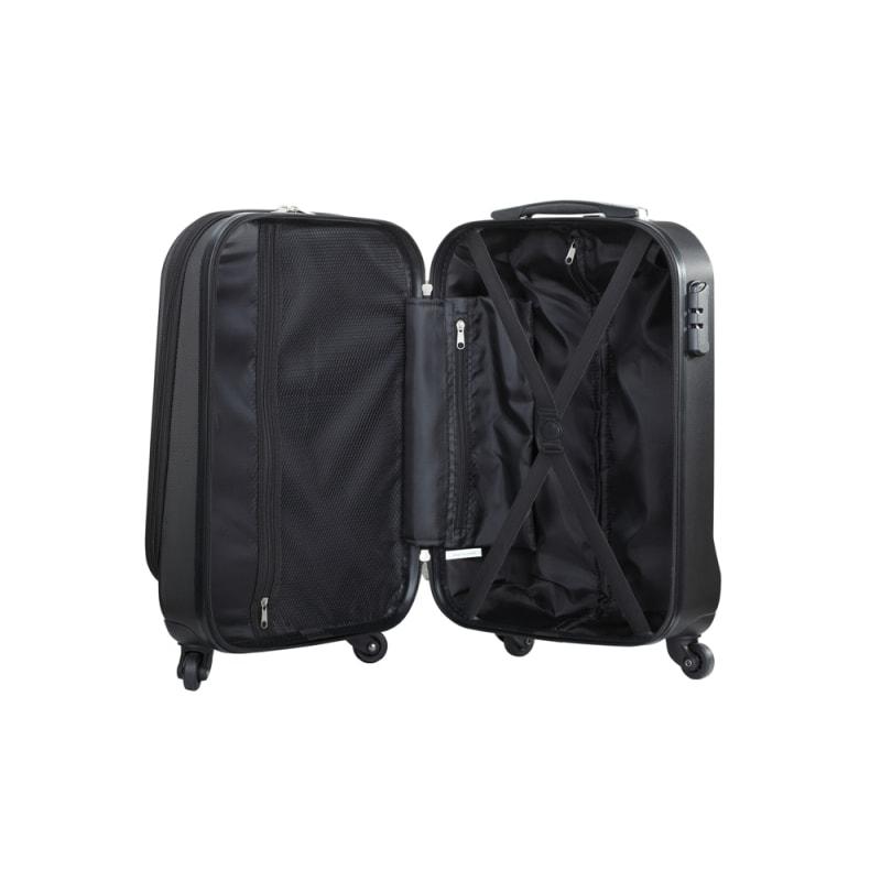 "OPEN BOX Swiss Case 20"" ABS 4W Suitcase Zip Pocket #5"